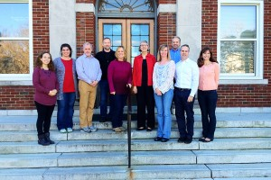 CED faculty on the steps of Curry Building