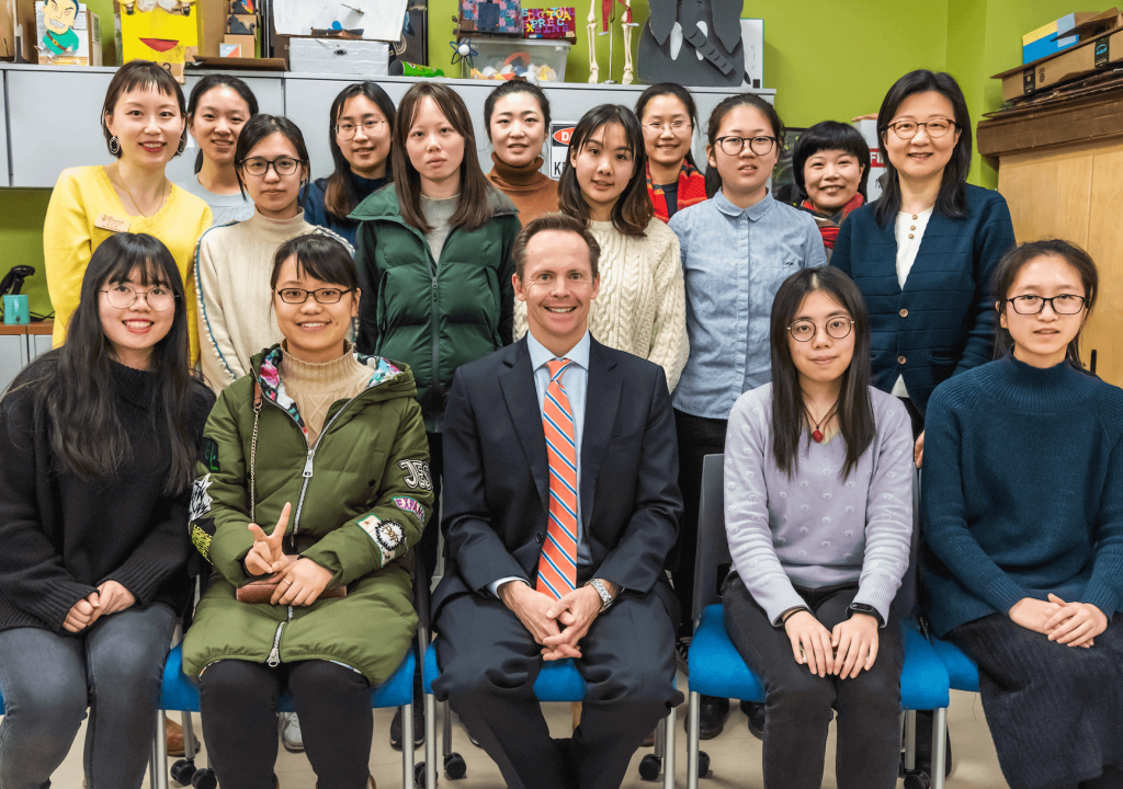 Shanghai Students with Dean Penfield