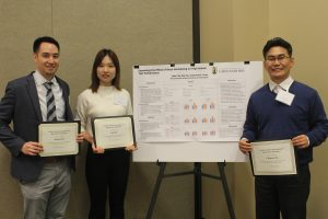 UNC Greensboro's Educational Research Methodology (ERM) PhD students Uk-Hyun Cho, Kun Su, David Chen win the North Carolina Association for Research in Education (NCARE) Outstanding Student Poster Award